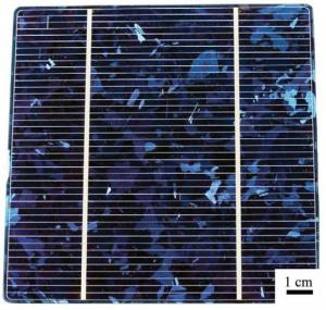 Célula fotovoltaica Si policristalino